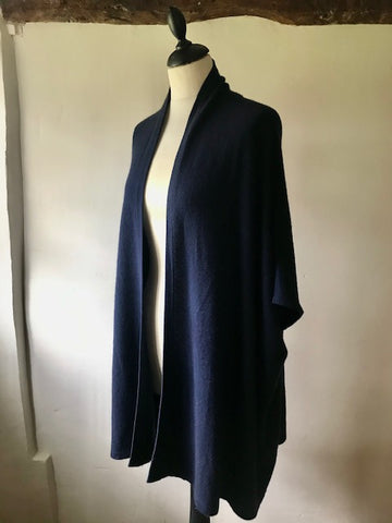 Navy Cashmere Cardigan by Cocowai