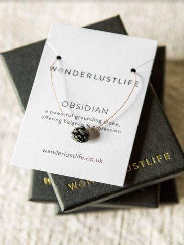 Obsidian Crystal Necklace
