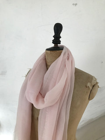 Pale Pink Cashmere Scarf