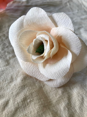 Apricot Pink Paper Flower