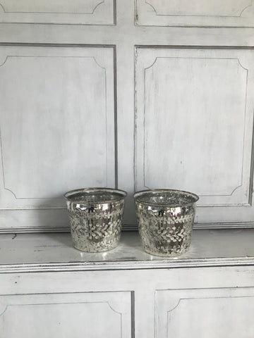 Engraved Glass Pot