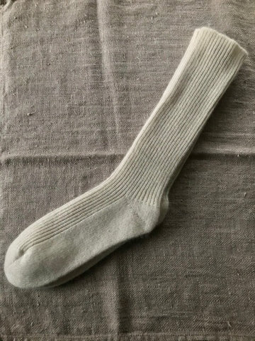 Cream Cashmere Socks
