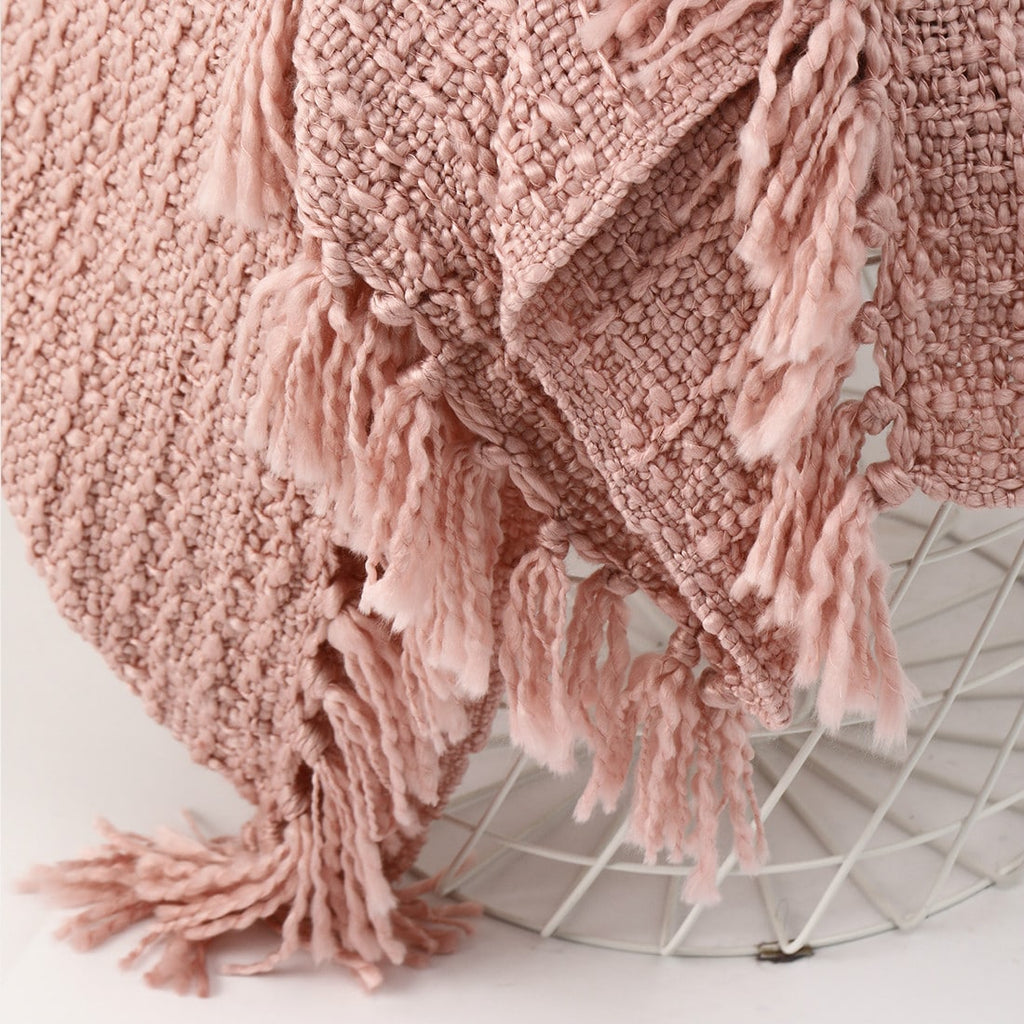 Woven throw blanket - Pink