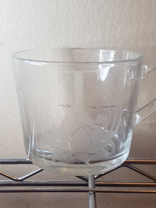 Branded Clear Glass Mugs