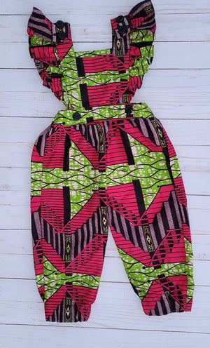 Pink and Green Fusion - Ada Jumpsuit