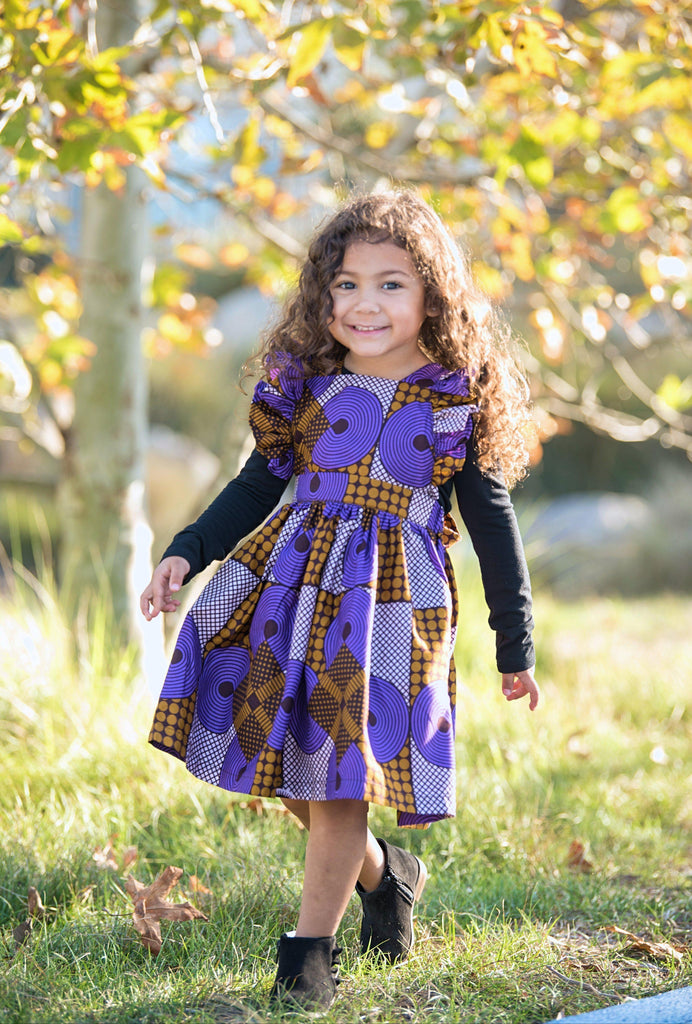 Elisa Dress - Purple Spiral-Elisamama