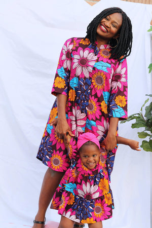 Mama of the Flower Burst - Jacket Dress-Elisamama