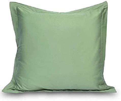 "Prince Bedding Solid Pattern 100% Egyptian Cotton 2 Piece Pillow Shams 26"" x 26"" Inches Pillow Cases 800 Thread Count Euro Size (26"" x 26"" (66 cm x 66 cm), Sage)"