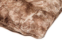 Chanasya Super Soft Fuzzy Faux Fur Cozy Warm Fluffy Chocklate Fur Throw Pillow Cover Pillow Sham - Chocklate Pillow Sham 18x18 Inches(Pillow Insert Not Included) Waivy Fur Pattern 2-Pack