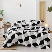 Smoofy 3 Piece Duvet Cover Set, Brushed Microfiber Bedding Sets, Simple Solid Color Pattern with Zipper Closure + Pillow Shams(Queen, Gray)