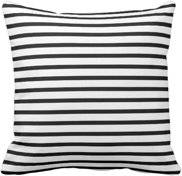 Emvency Throw Pillow Cover Colorful Garden Black and White Stripes Modern Decorative Pillow Case Home Decor Square 20 x 20 Inch Pillowcase
