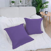 uxcell Pillow Shams Oxford Pillow Cases Egyptian Cotton 300 Thread Count Solid/Plain Pattern Lavender 18 x 18 Inch Set of 2