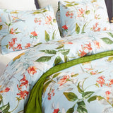 Argstar Twin/Queen Floral Pillowcases Set of 2, 26''X20'', Tree Branch Tropical Flower Pattern Envelope Closure End Standard Size White Pillow Covers