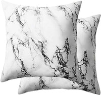 NANKO Bed Pillow Case/Shams Set of 2, Queen Size Without Insert (2 Pack Pillowcase 20x30, Marble)