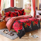 "3D Printed Bedding Set Tulip Flower Pattern Bedclothes Home Textiles 1 Quilt Cover +1 Bed Sheet +2 Pillow Shams Queen Size 78"" x 90"" (No Comforter)"