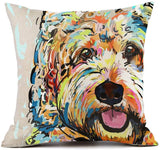 "Redland Art Cute Pet Wiener Dog Pattern Throw Pillow Covers Cotton Polyester Cushion Cover Pillowcases Sofa Home Decor 18""x 18""Inch (45 x 45cm)"
