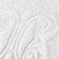 Brandream White Paisley Quilted Pillow Shams Standard Size Pillow Cases Set of 2 100% Cotton Soft Decorative Pillow Covers