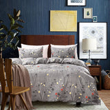NUVOLE Duvet Cover Set,Luxury Down Comforter Quite Cover-Zipper & Tie-Printed Damask Pattern-1 Duvet Cover and 2 Pillow Shams, Grey(Queen)