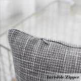 Kevin Textile Decorative Linen Throw Pillow Covers Cushion Case New 2 Tone Star Pillowcase Decorative Cushion Covers for Couch Bed Sofa(26 x 26 Inch,Grey) Set of 2