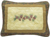 Donna Sharp Pillow Sham - Cabin Raising Pine Cone Lodge Decorative Pillow Cover with Pine Cone Pattern - Standard