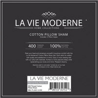 La Vie Moderne Premium 400 Thread Count Pure Cotton Pillow Shams | Set of 2 | Queen/Gray