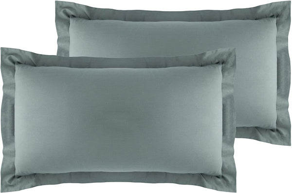 La Vie Moderne Premium 400 Thread Count Pure Cotton Pillow Shams | Set of 2 | King/Gray