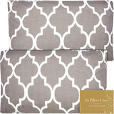 Queen Pillow Cases Set of 2 (20x30) - Microfiber Pillowcases Queen Size Pillow Cases Set of 2 - Microfiber Pillow Cases Queen Size Set of 2 Queen Pillow Case Queen Pillow Covers Queen Quatrefoil Gray
