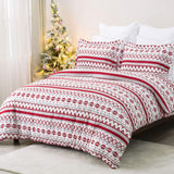 Bedsure Queen Duvet Cover Set, Full/Queen (90×90 inches) - Reversible Fair Isle Pattern - Soft Microfiber Comforter Cover, 3 Pieces Bedding with 1 Duvet Cover (No Comforter Insert), 2 Pillow Shams
