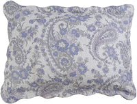 MarCielo 2-Piece Embroidered Quilted Pillow Shams, Standard Size, Queen Size (Lavender 223)