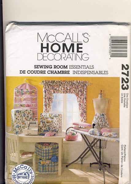 McCall's 2723 Home Decorating: Sewing Room Essentials