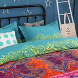 Luxury Bedding Set 4-Piece Bohemian Exotic Style Duvet Covers Set (Duvet Cover Bed Sheet Pillow Cases) Queen Size Pattern 1
