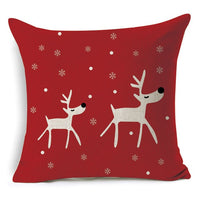 1Pcs 43*43cm Christmas Deer Gifts Pattern Cotton Linen Throw Pillow Cushion Cover Car Home Sofa Decorative Pillowcase 40483