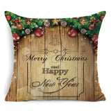 1Pcs 43*43cm Christmas Gifts Flower Pattern Cotton Linen Throw Pillow Cushion Cover Car Home Sofa Decorative Pillowcase 40486