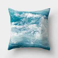1Pcs Ocean Sea Wave Pattern Polyester Throw Pillow Living Room Cushion Cover Home Decoration Sofa Decorative Pillowcase 40507