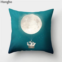 Hongbo 1 Pcs Cute Cartoon Tiger Wolf Dog Cat Sloth Penguin Deer Elk Pattern Cushion Cover Sofa Pillow Case Home Decor