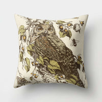1Pcs Owl Pattern Polyester Throw Pillow Living Room Cushion Cover Car Home Decoration Sofa Bed Decorative Pillowcase 40513