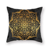 1Pcs Mandala Pattern Blue Polyester Throw Pillow Cushion Cover Car Decor Home Decoration Sofa Decorative Pillowcase 40508