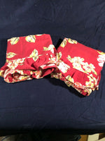 (2) Pottery Barn EUC Vintage Red Floral Shams! Standard
