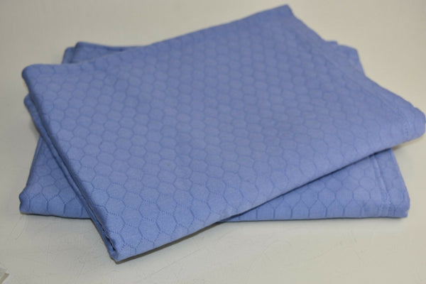 $184 NEW Sferra FAVO 2 PS Quilted Shams Cornflower Blue STANDARD 21 x 26 ""
