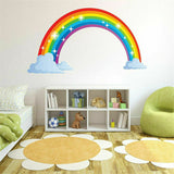 New Rainbow Wall Decal Nursery Baby Room Mural Art Decor Vinyl Sticker