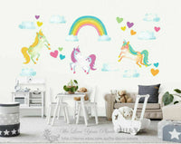 Unicorn Horse Wall Sticker Kids Baby Nursery Decor Vinyl Decal Art Mural Gift