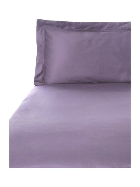 Yves Delorme Triomphe Figue Solid Purple Queen Duvet Cover Standard Shams New