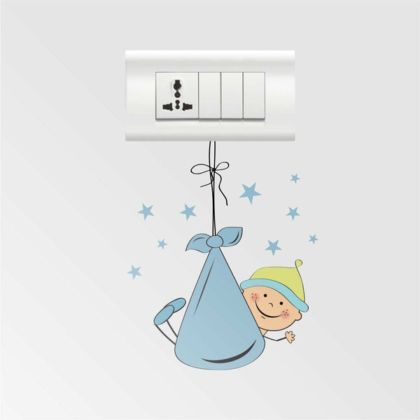 Hanging Baby Wall Stickers Removable Decal Home Decor 44 x 34 cm