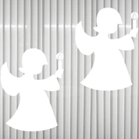 Baby Jesus Angel with Candle 15cm Sticker Window Decor Film Winter Christmas