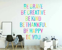 """Be ..."" Kid Wall Quote Sticker Nursery Decor Baby Room Decal Mural Art Gift DIY"