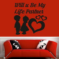Baby Couple Design Black Wall Sticker Decals Kids Baby Nursery Room Home Decor