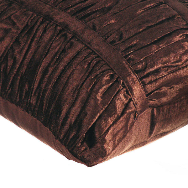 22x22 inch Chocolate Brown Luxury Pillow, Velvet - Chocolate Brown Beauty