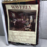 2 Waverly Indigo Newberry Stripe Flanged Standard Pillow Shams NEW in package
