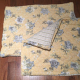 ️ 1 or 2 RESTORATION HARDWARE Yellow Quilted Floral Standard Pillow Sham Shams