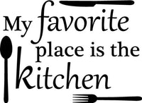 Favorite Place Kitchen Mom Vinyl Wall Home Decor Decal Free Shipping! FUNNY